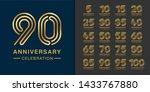 set of premium anniversary... | Shutterstock .eps vector #1433767880