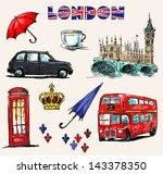 london symbols. set of drawings. | Shutterstock .eps vector #143378350