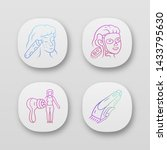 beauty devices app icons set.... | Shutterstock .eps vector #1433795630