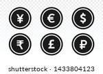 currency icons. collection of... | Shutterstock .eps vector #1433804123