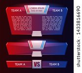 blue and red versus team... | Shutterstock .eps vector #1433816690