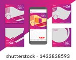 collection of promotional... | Shutterstock .eps vector #1433838593