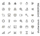 business analytics line icon... | Shutterstock .eps vector #1433839286