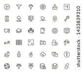 data centre line icon set....