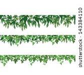 seamless pattern  maple green... | Shutterstock .eps vector #143384110
