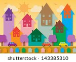 House prices rising, symbolized by arrows with a house shape going up. - stock vector