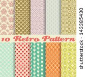 10 retro different vector... | Shutterstock .eps vector #143385430