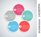 infographics template with with ... | Shutterstock .eps vector #143385994