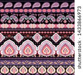 indian rug tribal ornament... | Shutterstock .eps vector #1433866973