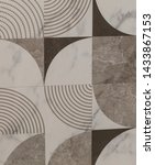 ceramic tile with abstract...   Shutterstock . vector #1433867153