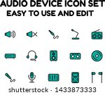 audio icon set for commercial...