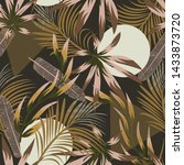 abstract seamless tropical... | Shutterstock .eps vector #1433873720