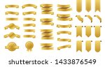 gold ribbons banners. set of... | Shutterstock . vector #1433876549