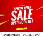 Sale Banner Template Red Design