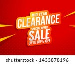 super sale banner template... | Shutterstock .eps vector #1433878196