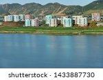 North Korea. Coastal urban-type settlement on the coast of the Japanese or Eastern Sea near Wonsan