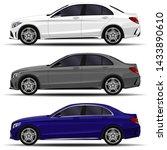 realistic car. sedan cars set.... | Shutterstock .eps vector #1433890610