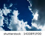 blue sky background with... | Shutterstock . vector #1433891930