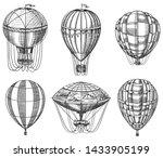 Set Of Hot Air Balloons. Vecto...