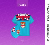 rugby jersey of fiji team with... | Shutterstock .eps vector #1433909573