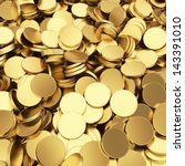 Golden Shining Blank Coins...
