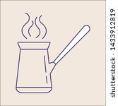 outline coffee icon isolated...