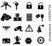 security and warning icons.... | Shutterstock .eps vector #143391724