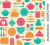 kitchen tools modern pattern ...   Shutterstock .eps vector #1433917940