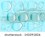 transparent glass or water... | Shutterstock . vector #143391826