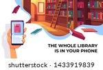 online library app for reading  ... | Shutterstock .eps vector #1433919839