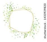 green leaves geometric frame...   Shutterstock .eps vector #1433929820