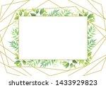 green leaves geometric frame...   Shutterstock .eps vector #1433929823