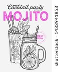 cocktail illustration   mojito... | Shutterstock .eps vector #1433941853