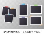 set of vintage photo frame with ... | Shutterstock . vector #1433947433