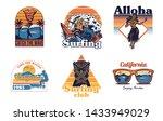set vintage print collection... | Shutterstock .eps vector #1433949029