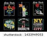 new york city usa nyc set... | Shutterstock .eps vector #1433949053