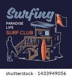 beach wood house of surfing... | Shutterstock .eps vector #1433949056