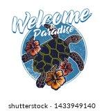big ocean sea wild turtle... | Shutterstock .eps vector #1433949140