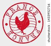 france stamp. chicken... | Shutterstock .eps vector #1433952716