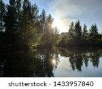 Landscape Of Forest Lake Befor...