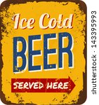 Vintage Metal Sign 'ice Cold...