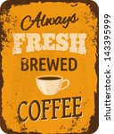 rusty vintage metal sign with... | Shutterstock .eps vector #143395999