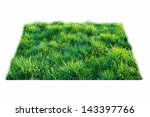 square of green grass field... | Shutterstock . vector #143397766