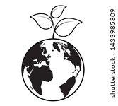 world plant eco friendly... | Shutterstock .eps vector #1433985809