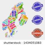 vector handmade combination of... | Shutterstock .eps vector #1434051083
