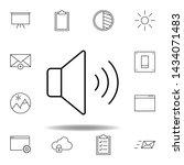 sound  volume outline icon....
