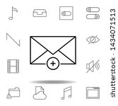 add email envelope outline icon....