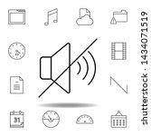 mute no sound outline icon....