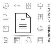 document file page outline icon....