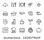 food and drink outline icon set ... | Shutterstock .eps vector #1434079649
